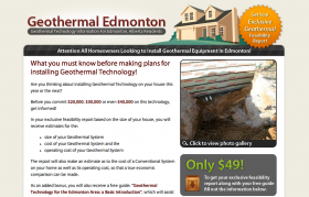 GeothermalEdmonton - CakePHP development and web design
